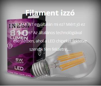 LED FILAMENT LÁMPA E27-ES FOGLALATTAL G2 SZÉRIA