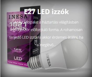 LED LÁMPA E27-ES FOGLALATTAL